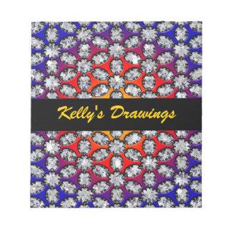 Rainbow & Diamond Beauty Notepad