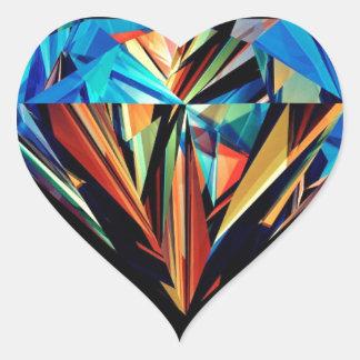 Rainbow Diamond Heart Sticker