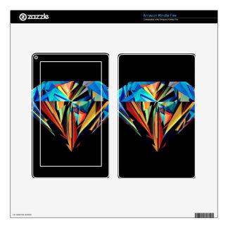 Rainbow Diamond Kindle Fire Skin
