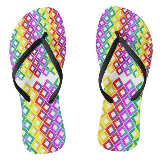 Rainbow Diamond Zazzle Flip Flops
