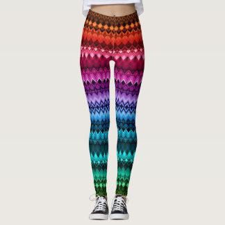 Rainbow Diamond ZigZag Leggings