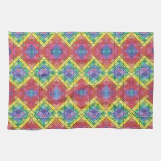 Rainbow Diamonds Towel