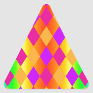 Rainbow Diamonds Triangle Sticker