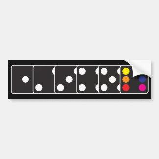 Rainbow Dice Bumper Sticker