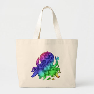 Rainbow Diety Large Tote Bag