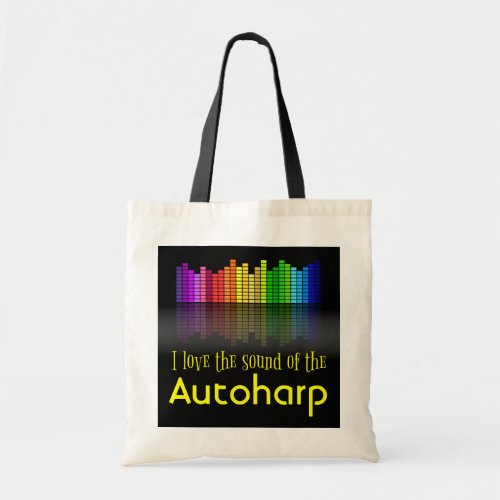 Rainbow Digital Sound Equalizer Autoharp Budget Tote Bag