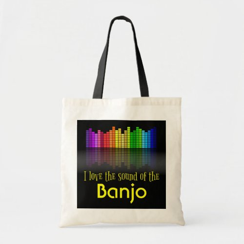 Rainbow Digital Sound Equalizer Banjo Budget Tote Bag