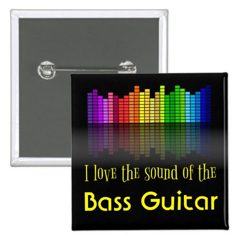 Rainbow Digital Sound Equalizer Bass Guitar 2-inch Square Button
