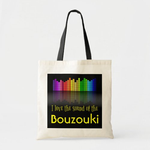 Rainbow Digital Sound Equalizer Bouzouki Budget Tote Bag