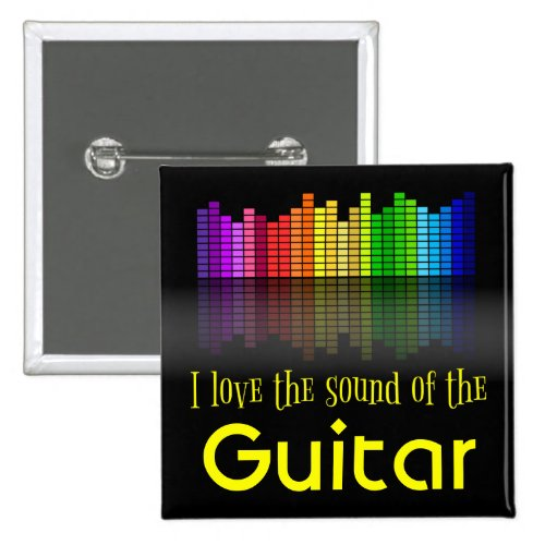 Rainbow Digital Sound Equalizer Guitar 2-inch Square Button