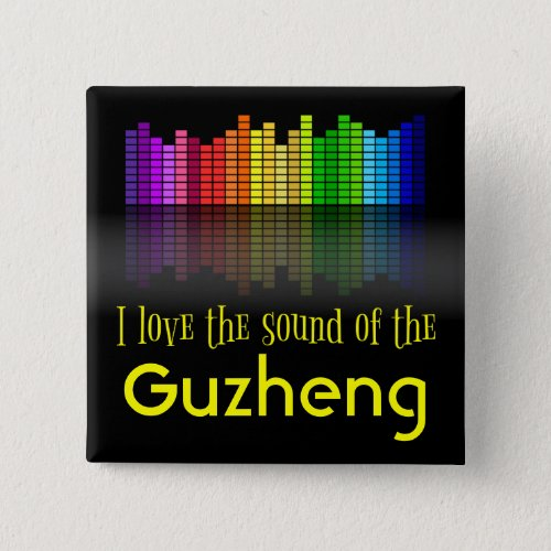 Rainbow Digital Sound Equalizer Love the Sound of the Guzheng 2-inch Square Button