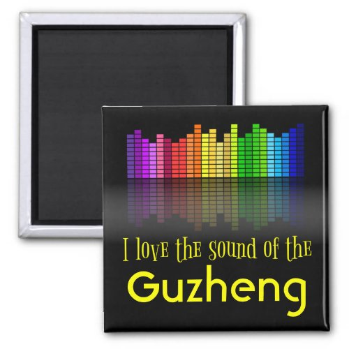 Rainbow Digital Sound Equalizer Love Sound Guzheng 2-inch Square Magnet