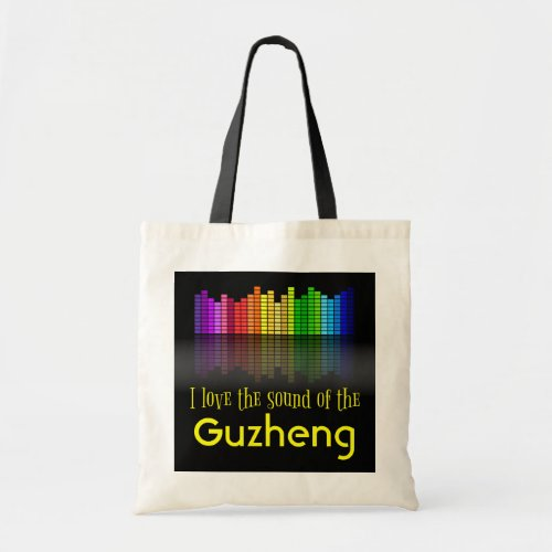 Rainbow Digital Sound Equalizer Guzheng Budget Tote Bag