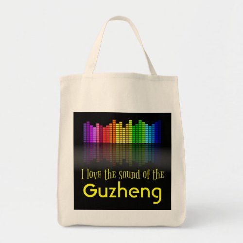 Rainbow Digital Sound Equalizer Guzheng Grocery Tote Bag