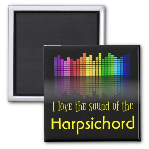 Rainbow Digital Sound Equalizer Love Sound Harpsichord 2-inch Square Magnet
