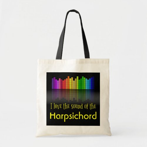 Rainbow Digital Sound Equalizer Harpsichord Budget Tote Bag