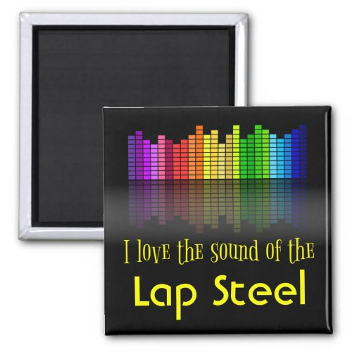 Rainbow Digital Sound Equalizer Love Sound Lap Steel 2-inch Square Magnet