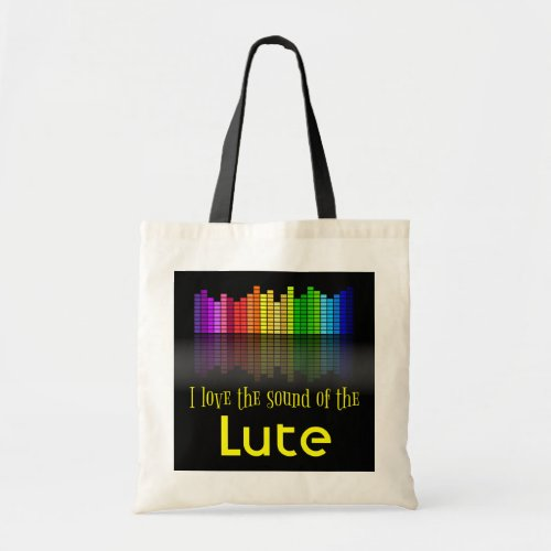 Rainbow Digital Sound Equalizer Lute Budget Tote Bag