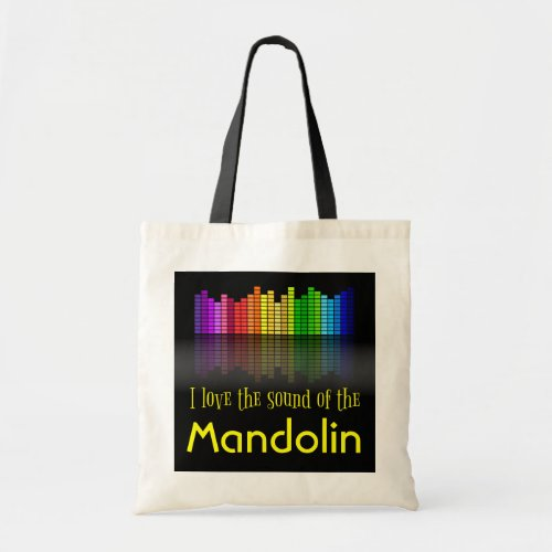 Rainbow Digital Sound Equalizer Mandolin Budget Tote Bag