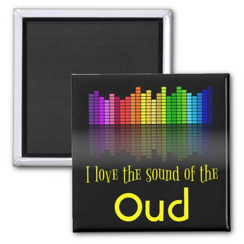 Rainbow Digital Sound Equalizer Love Sound Oud 2-inch Square Magnet