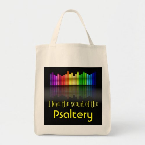 Rainbow Digital Sound Equalizer Psaltery Grocery Tote Bag