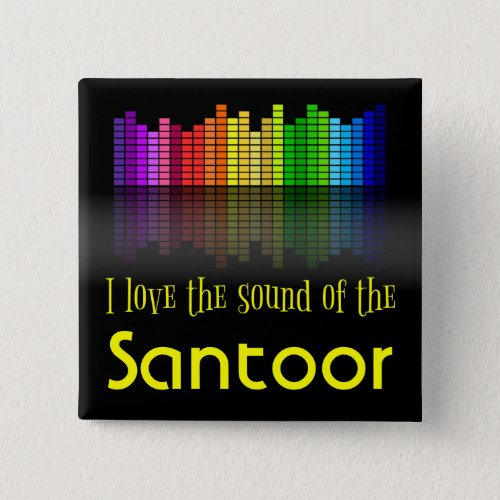 Rainbow Digital Sound Equalizer Love the Sound of the Santoor 2-inch Square Button