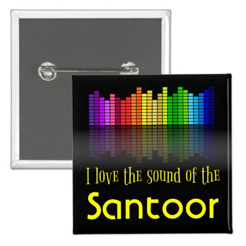 Rainbow Digital Sound Equalizer Santoor 2-inch Square Button