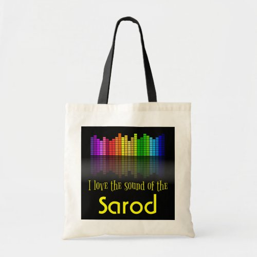 Rainbow Digital Sound Equalizer Sarod Budget Tote Bag