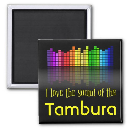 Rainbow Digital Sound Equalizer Love Sound Tambura 2-inch Square Magnet