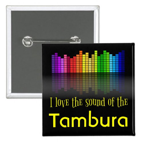 Rainbow Digital Sound Equalizer Tambura 2-inch Square Button