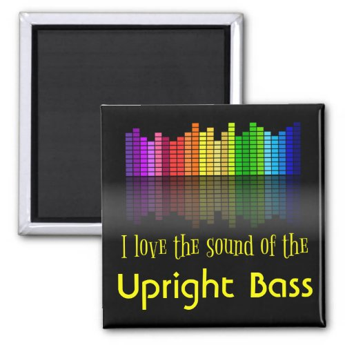 Rainbow Digital Sound Equalizer Love Sound Upright Bass 2-inch Square Magnet