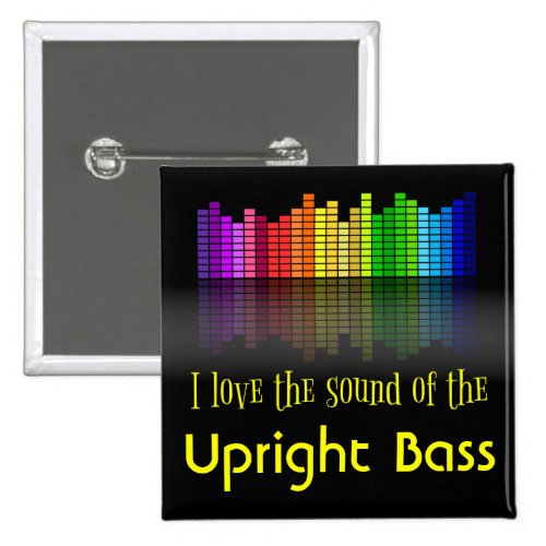 Rainbow Digital Sound Equalizer Upright Bass 2-inch Square Button
