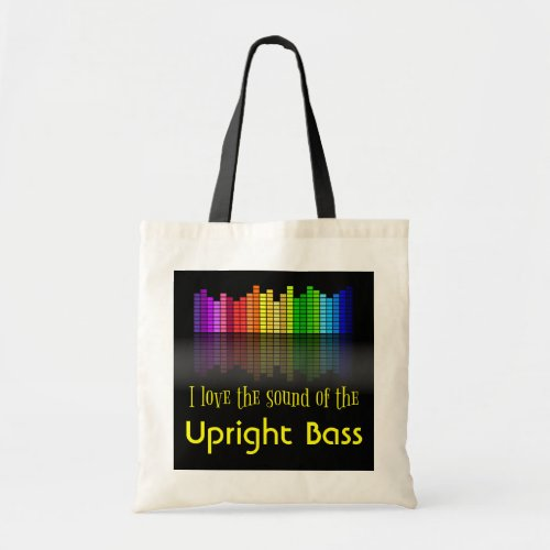 Rainbow Digital Sound Equalizer Upright Bass Budget Tote Bag
