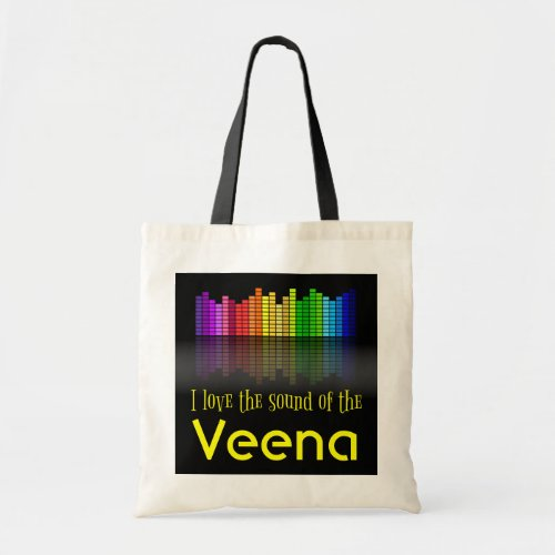 Rainbow Digital Sound Equalizer Veena Budget Tote Bag