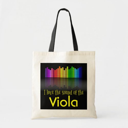 Rainbow Digital Sound Equalizer Viola Budget Tote Bag