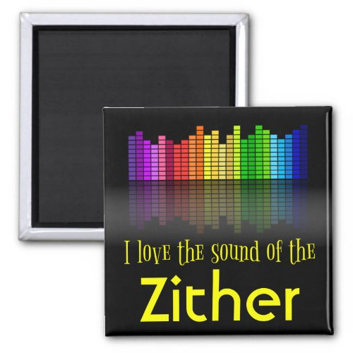 Rainbow Digital Sound Equalizer Love Sound Zither 2-inch Square Magnet