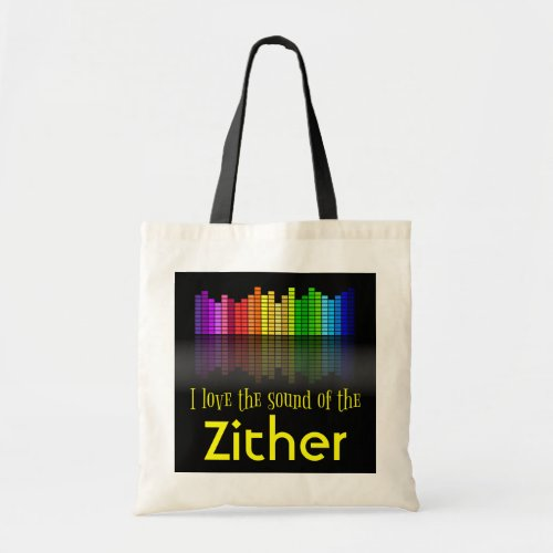 Rainbow Digital Sound Equalizer Zither Budget Tote Bag