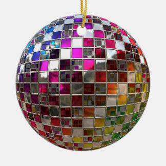 Rainbow Disco Ball Mirror Ornament