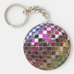 Rainbow Disco Ball Mirrors Keychain
