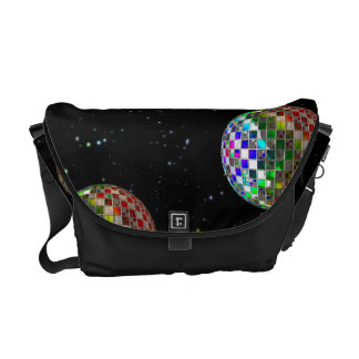 Rainbow Disco Party In Space Courier Bag
