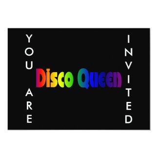 Rainbow Disco Queen Card
