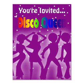 Rainbow Disco Queen | Retro Dancers Purple Card