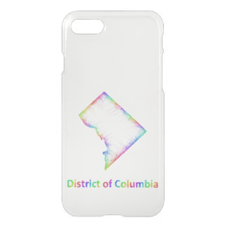 Rainbow District of Columbia map iPhone 7 Case