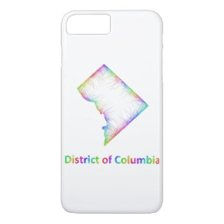 Rainbow District of Columbia map iPhone 7 Plus Case