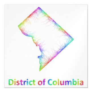 Rainbow District of Columbia map Magnetic Card