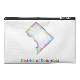 Rainbow District of Columbia map Travel Accessories Bags