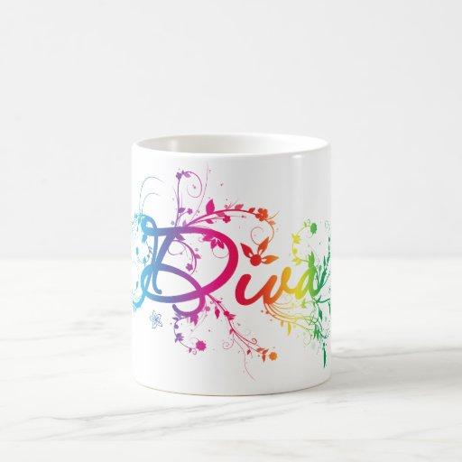 Rainbow Diva Coffee Mugs