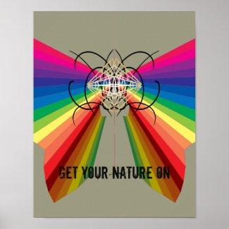 Rainbow Diversity Pride Equality CricketDiane Art Poster