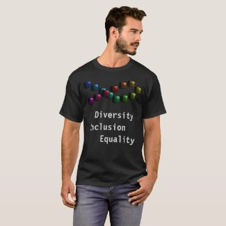 Rainbow Diversity PRIDE Equality Inclusion Tshirts