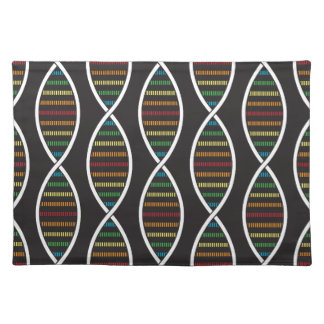 Rainbow DNA Strands Cloth Placemat